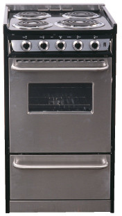Summit Professional Series TEM110BRWY 20 Inch Slide-in Electric Range with 4 Coil Elements, 2.5 cu. ft. Capacity, Oven Window, Towel Bar Handles and Storage Drawer