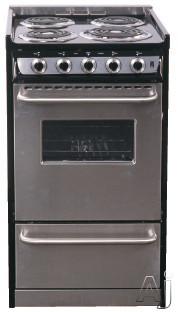 "Summit Professional Series TEM130R 20"" Slide-In Electric Range with 2.46 cu. ft. Manual Clean Oven, U.S. & Canada TEM130R"
