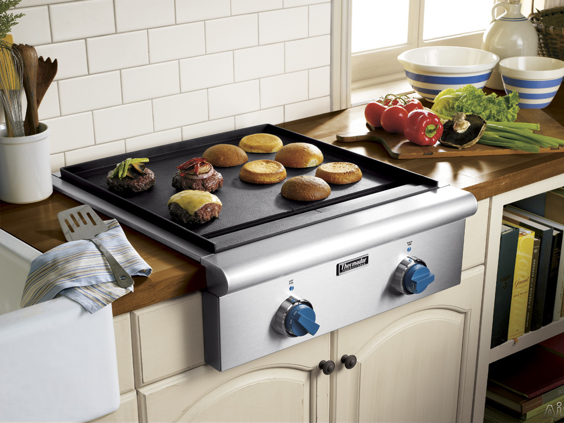 "Thermador PCD484EE 48"" Gas Cooktop with Star Burners (2 w/ ExtraLow Simmer Settings), 15,000 BTU ..."