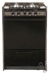"Summit Professional Series TM616R 24"" Slide-In Gas Range with Manual Clean, Electronic Ignition and, U.S. & Canada TM616R"