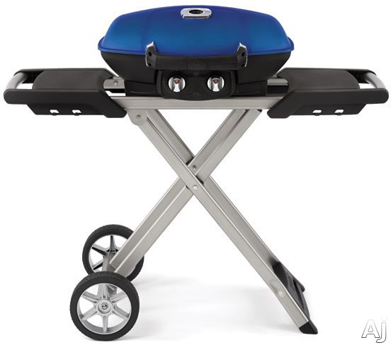 Napoleon Travel Q Series TQ285XBL 44 Inch Portable LP Gas Grill with ACCU-PROBE, JETFIRE Ignition, Wind Proof, 285 sq. in. Cooking Area, 12,000 Total BTU, 2 Stainless Steel Burners, Cast Iron Grids an