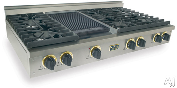 "FiveStar TTN047 48"" Pro-Style Natural Gas Rangetop with 6 Sealed Ultra High-Low Burners and Double, U.S. & Canada TTN047"