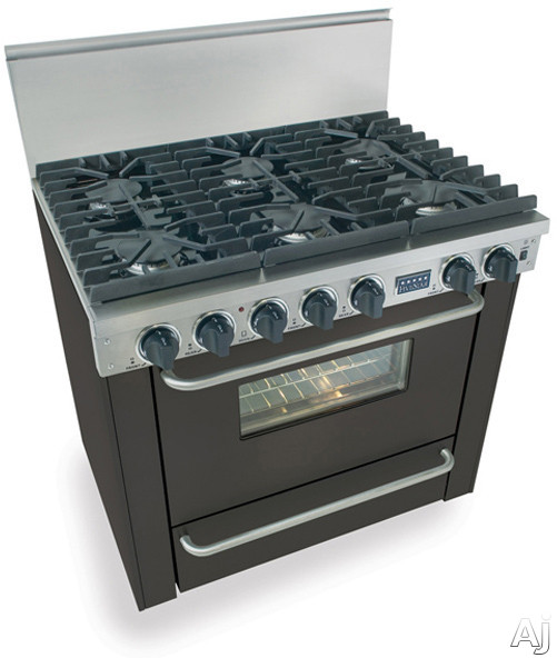 """FiveStar TTN3117W 36"""" Pro-Style Natural Gas Range with 6 Sealed Ultra High-Low Burners, 3.69 cu. ft., U.S. & Canada TTN3117W"""