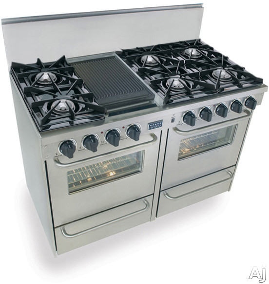 Fivestar Ttn5107bw 48 Quot Pro Style Natural Gas Range With 6