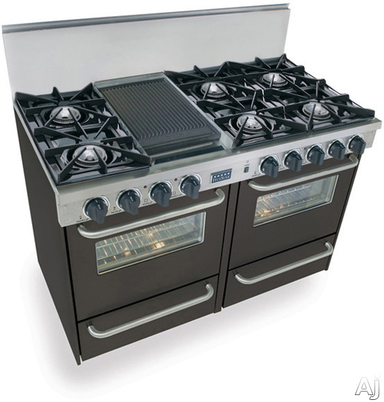 Fivestar Tpn5107w 48 Quot Pro Style Lp Gas Range With 6 Open