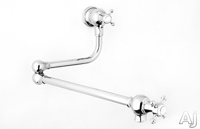 Rohl Perrin and Rowe Traditional Collection U4798XEB2 Double Handle Wall Mount Pot Filler Faucet, U.S. & Canada U4798XEB2