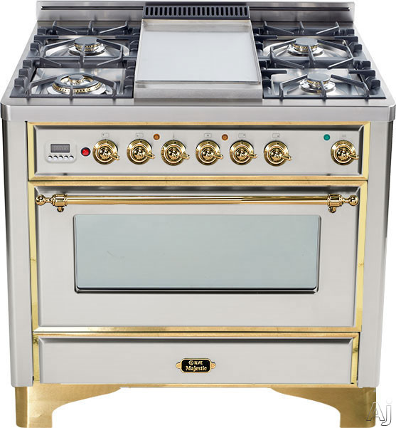 Ilve UM906VGGI 36 Traditional Style Gas Range With 6