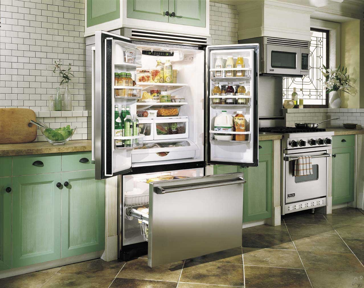 Viking Vcff236ss 21 8 Cu Ft Counter Depth French Door