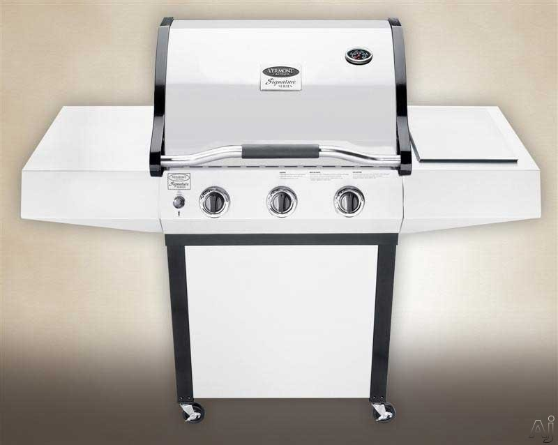"Electronic Signature - Vermont Castings Signature Series VCS3507N 27"" Built-in Gas Grill With 400 Sq In Cooking Surface 37,500 BTU Stainless Steel Burners NeverFail Electronic Ign"