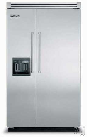 Viking VCSB483DSS 48 Inch Built-in Side by Side Refrigerator with ProChill Temperature ...