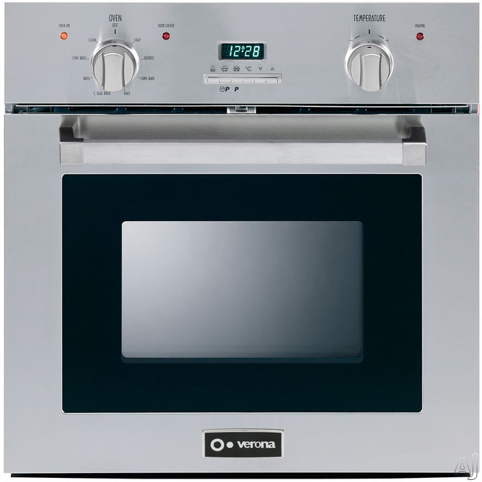 "Verona VEBIE24PSS 24"" Single Electric Wall Oven with 2.0 cu. ft. Self-Cleaning European Convection, U.S. & Canada VEBIE24PSS"