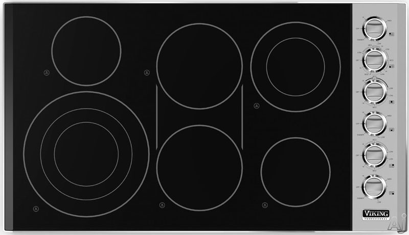 Viking Vec5366bsb 36 Quot Smoothtop Electric Cooktop With 6