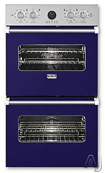 Viking Professional Premiere Series VEDO5272CB 27 Inch Double Electric Wall Oven with 4.1 cu. ft. Vari-Speed Dual Flow Convection Ovens, Self-Clean, Infrared Broiler, 10-Pass Dual Bake Element and Mea