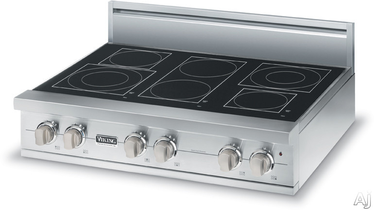Viking Vert5366bsb 36 Quot Pro Style Electric Rangetop With 6