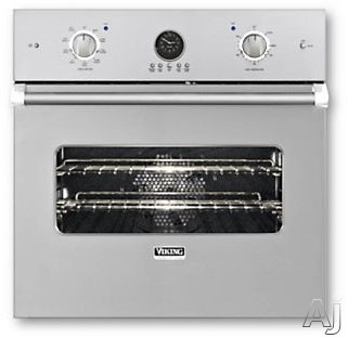 Viking Professional Premiere Series VESO5272SS 27 Inch Single Electric Wall Oven with 4.1 cu. ft. Vari-Speed Dual Flow Convection Oven, Self-Clean, Infrared Broiler, 10-Pass Dual Bake Element and Meat Probe: Stainless Steel