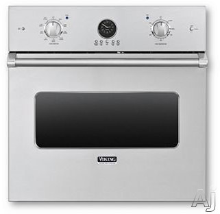 "Viking Professional Premiere Series VESO5302SS 30"" Single Electric Wall Oven with 4.7 cu. ft. Vari-Speed Dual Flow Convection Oven, Self-Clean, Infrared Broiler, 10-Pass Dual Bake Element and Meat Probe: Stainless Steel"