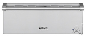 "Viking Professional Custom Series VEWD527SS 27"" Warming Drawer with 1.4 cu. ft. Capacity, 425 Watt Element, 90° to 250°F Temperature Settings, Moisture Selector and Multiple Design Options: Stainless Steel"