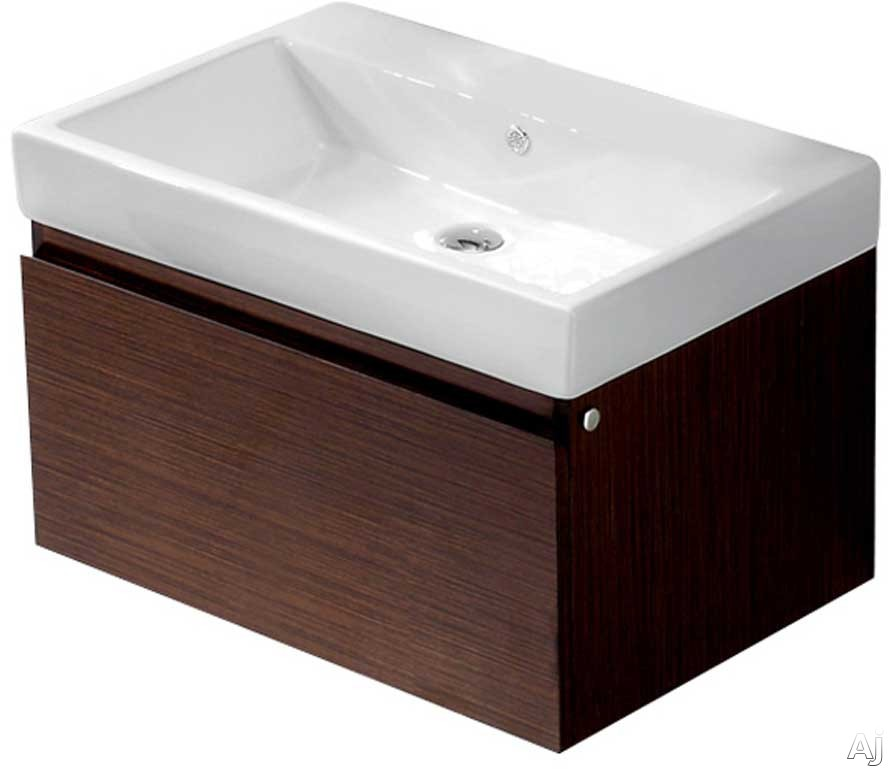 Vigo Industries VG09018118K1 31 Inch Agalia Modern Wall-Mount Vanity with Deep Drawer, Soft Closing Hardware, White Ceramic Sink and Mounting Hardware Included: Wenge