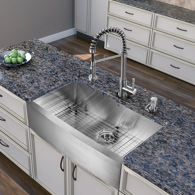 Farmhouse Sink Depth : Home > Sinks & Faucets > Sink & Faucet Combinations > VG15255