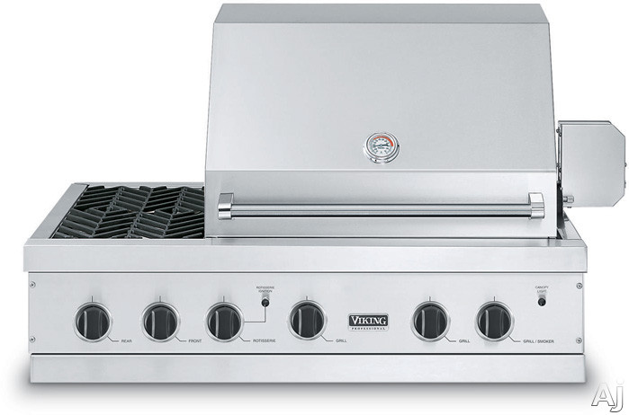 Image disclaimer for Viking built in grill