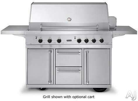 Viking vgbq5304rt 53 built in gas grill with 1120 sq in for Viking built in grill