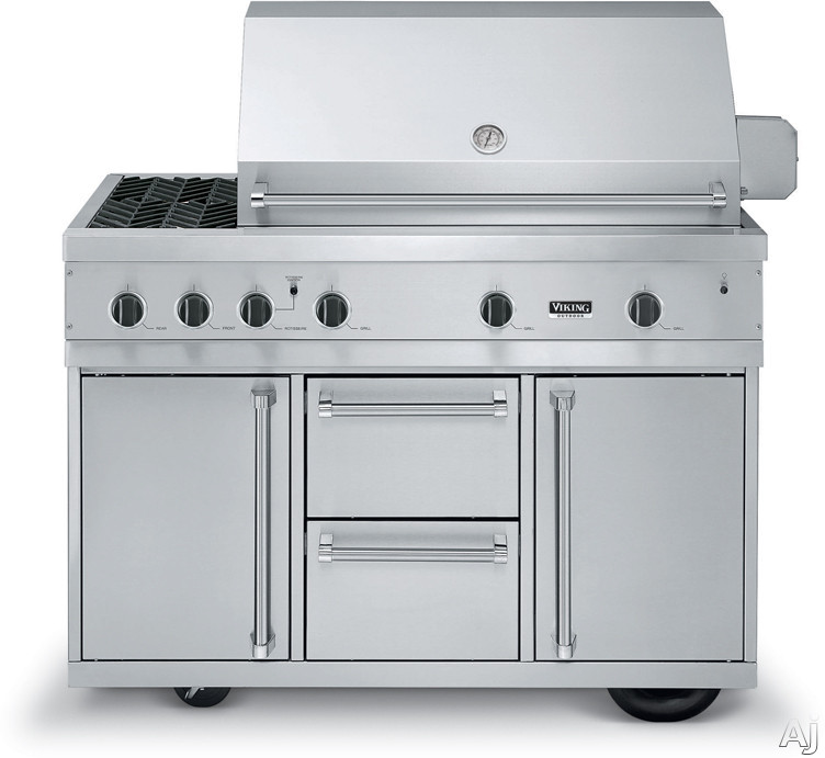 Viking vgiq5323re2nss 53 built in gas grill with 836 sq for Viking built in grill