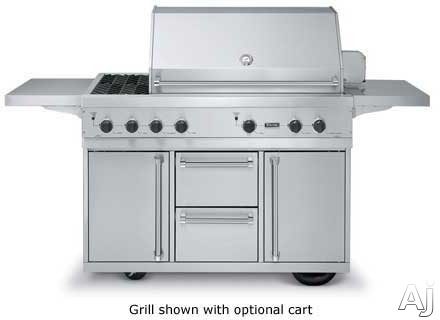 Viking vgbq5323rt 53 built in gas grill with 836 sq in for Viking built in grill