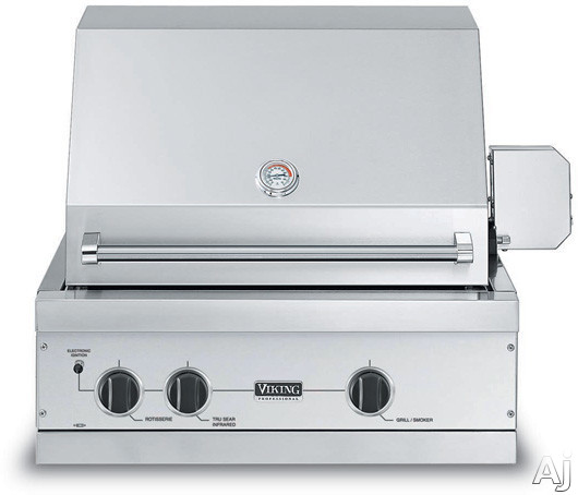 Viking vgiq3002rt1n 30 built in gas grill with 563 sq in for Viking built in grill