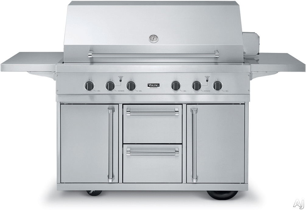 Viking vgiq5304rt2 53 built in gas grill with 1 120 sq for Viking built in grill