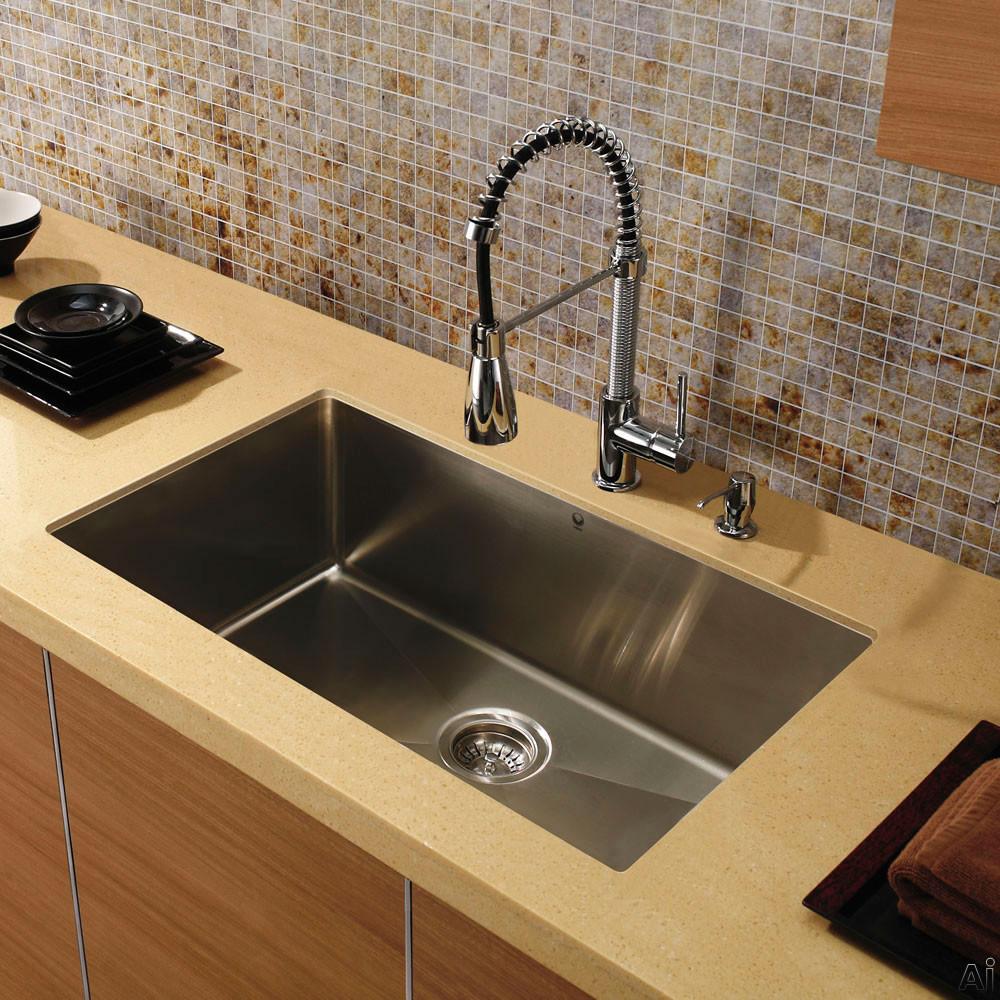 Vigo Industries Vgr3219cx 32 Inch Undermount Single Bowl Stainless Steel Sink With 9 7 8 Inch