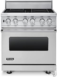"Viking Professional Custom Series VISC5304BSS 30"" Pro-Style Induction Range with 4 MagneQuick Elements, 4.7 cu. ft. Vari-Speed Dual Flow Convection Oven, Self-Clean, Infrared Broiler and Rapid Ready Preheat: Stainless Steel"