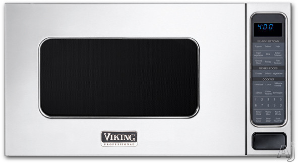 Viking Professional Custom Series VMOS201SS 2.0 cu. ft. Countertop Microwave Oven with 13 Sensor Settings, Warm/Hold, Add-a-Minute and Child Lock: Stainless Steel