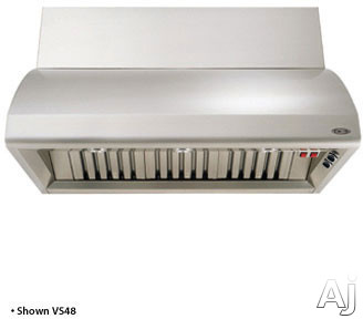"DCS Professional Series VS36 36"" Wall Mount Hood with 600 CFM Internal Blower and Stainless Steel Baffle Filters"