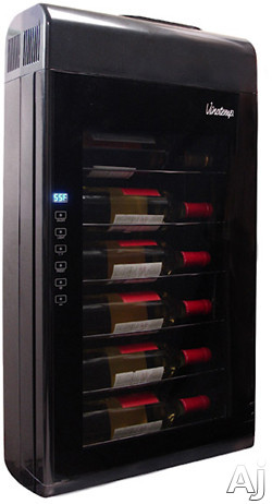 "Vinotemp VT6TEDWB 17"" Wall-Mounted Wine Cooler with 6-Bottle Capacity, Thermoelectric Technology, U.S. & Canada VT6TEDWB"