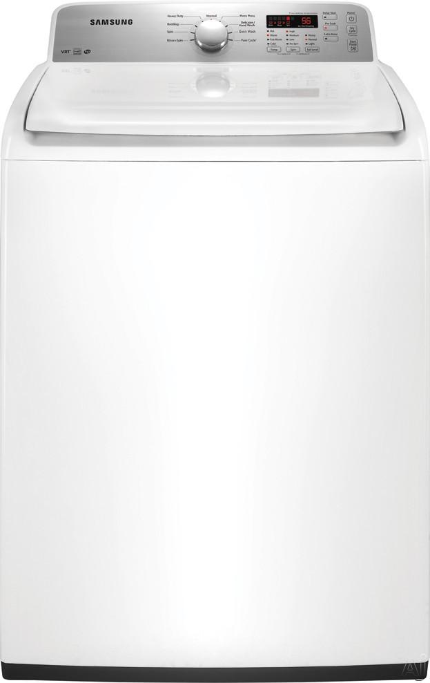 "Samsung WA400PJHDWR 27"" Top-Load Washer with 4.0 cu. ft. Capacity, 9 Wash Cycles, 5 Options, 5, U.S. & Canada WA400PJHDWR"