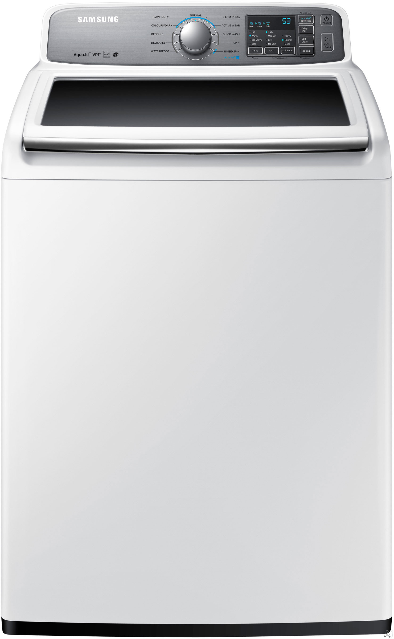 """White Top Load Laundry Pair with WA48H7400AW 27"""""""" Washer and DV48H7400GW27"""""""" Gas"""" 355915"""