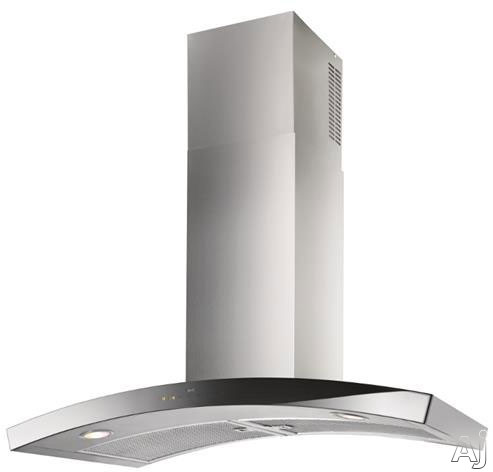 Best Dune Series WC35E90SB 36 Inch Wall Mount Chimney Range Hood with Multiple Blower Options, 4-Speed Glass Touch Control, Heat Sentry, LED Lights, Delay-Off Timer and Black Glass Front WC35E90SB