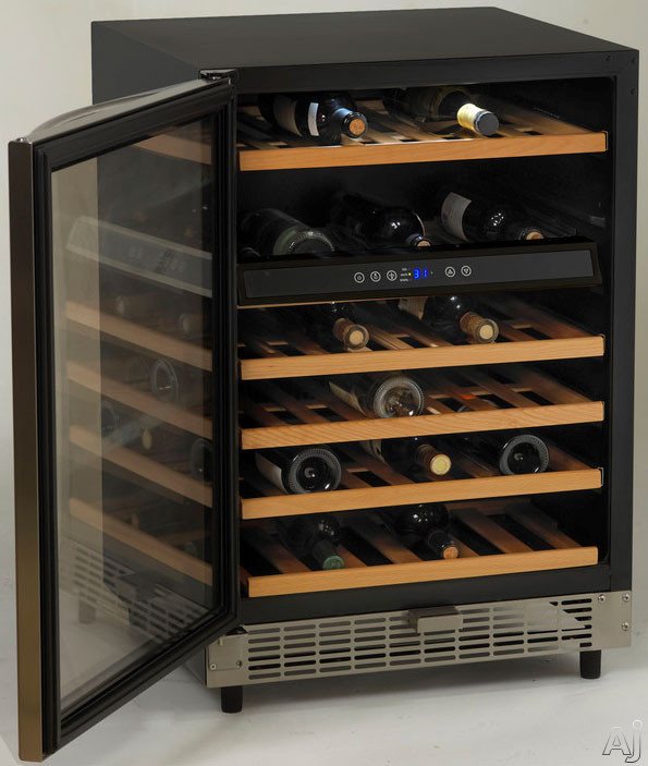avanti wcr5449ss 24 inch undercounter wine chiller with 49. Black Bedroom Furniture Sets. Home Design Ideas