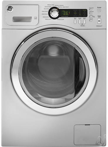 GE WCVH48 24 Inch 2.2 cu. ft. Front Load Washer with 10 Wash Cycles, 1,400 RPM, Sanitize Wash, Speed Wash, Internal Water Heater, Load-Sensing Adaptive Fill and ENERGY STAR Certification