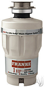 Franke WD100LC 1 HP Continuous Feed Waste Disposer with Stainless Steel Grinding Components, U.S. & Canada WD100LC