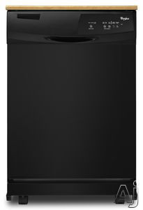 Whirlpool Wdp350paa Portable Full Console Dishwasher With