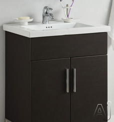 """Empire Industries Daytona Collection WDVE2420TGP 23"""" Contemporary Wall-Mount Vanity with 2 Cabinet, U.S. & Canada WDVE2420TGP"""