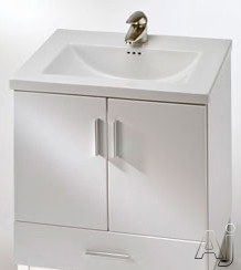 """Empire Industries Daytona Collection WDV2421POS 23"""" Contemporary Wall-Mount Vanity with 2 Cabinet, U.S. & Canada WDV2421POS"""