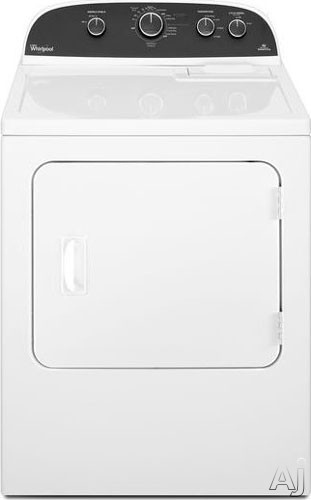 "Whirlpool WED4890BW 29"" Electric Dryer with 6.4 cu. ft. Capacity, 4 Temperature Settings, AccuDry, U.S. & Canada WED4890BW"