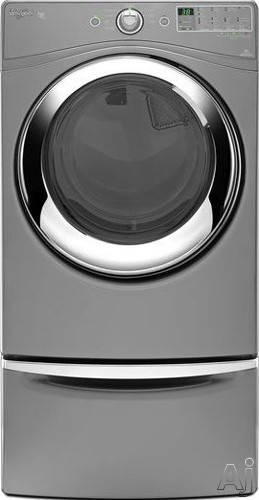 "Whirlpool Duet Steam WED86HEBC 27"" Electric Steam Dryer with 7.4 cu. ft. Capacity, 9 Cycles, 6, U.S. & Canada WED86HEBC"