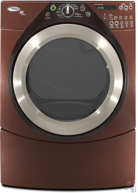 "Laundry - Whirlpool Duet WED9500TW 27"" Electric Steam Dryer With 7.0 Cu Ft Capacity 10 Cycles 5 Temperature Options Steam Technology Quick Refresh Cycle And Enhance"