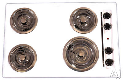 """Summit TEL05 30"""" Electric Cooktop with 4 Coil Elements: Black, U.S. & Canada TEL05"""