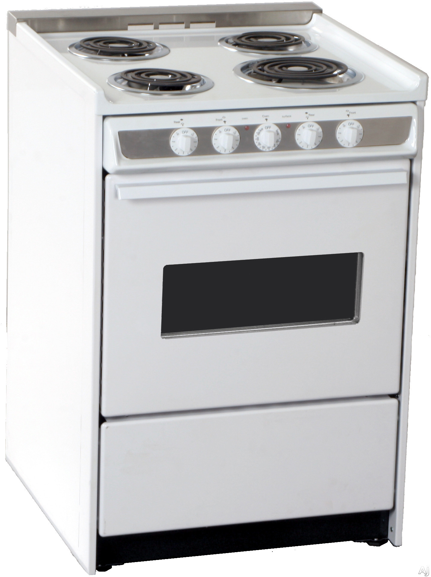summit wem619rw 24 inch slide in electric range with