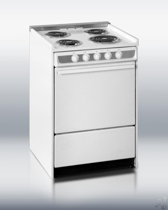 "Summit Professional Series WEM619 24"" Slide-In Electric Range with 2.92 cu. ft. Manual Clean Oven, U.S. & Canada WEM619"