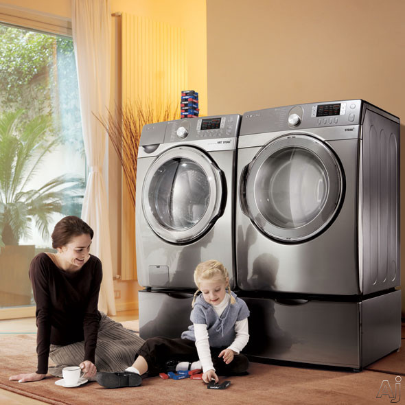 Samsung Wf448aap 27 Quot Front Load Steam Washer With 3 9 Cu